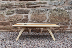 Ash and yew coffee table