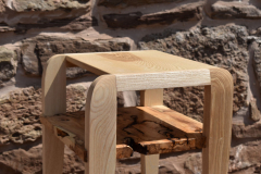 Ash and yew side-table
