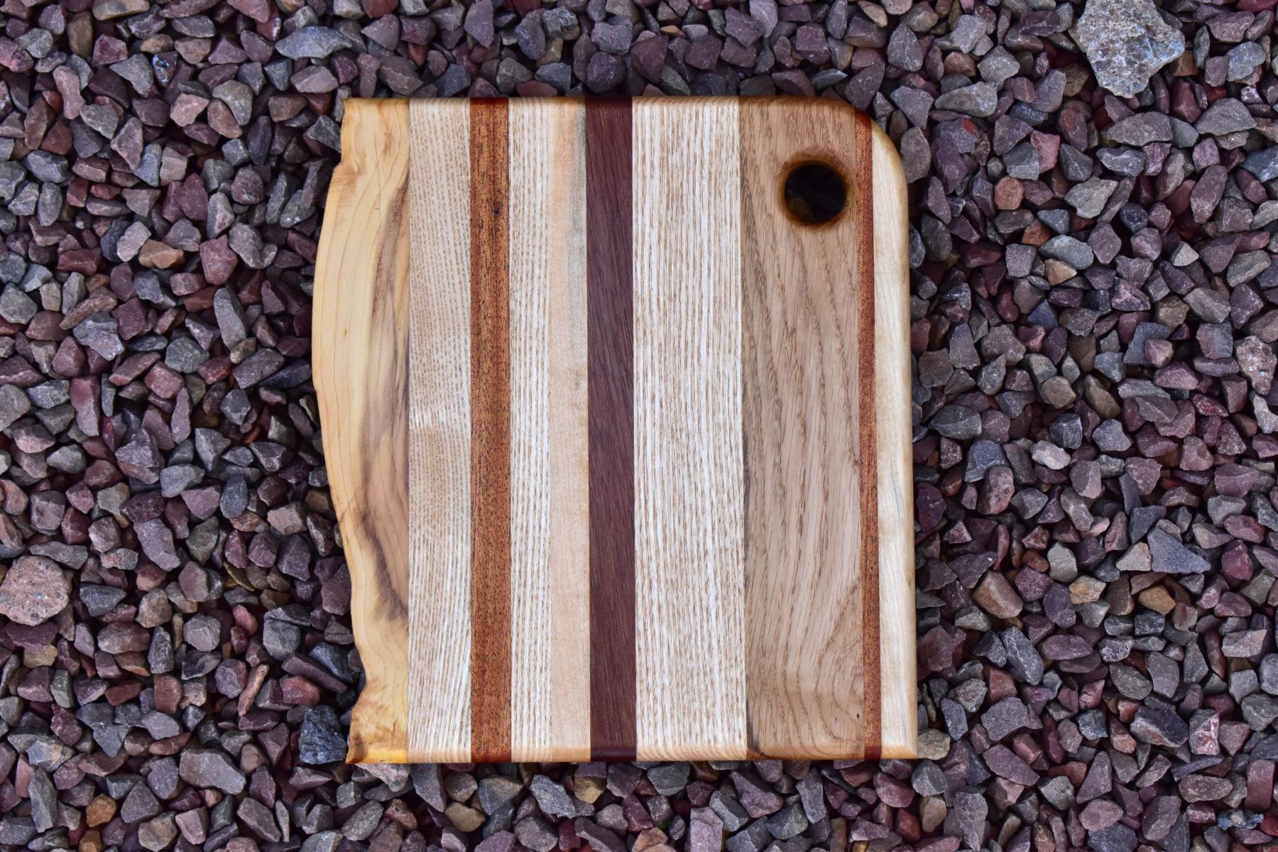 Mixed wood charcuterie board