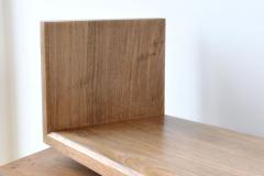 English walnut bookshelf