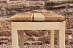 Table-top and leg-frame detail