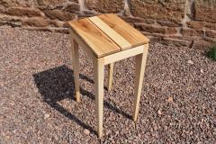 Oak, limewood and sapele side-table