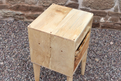 Sycamore and yew drawer side-table