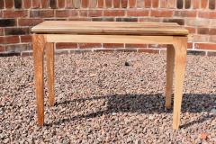Walnut, ash and sapele console table