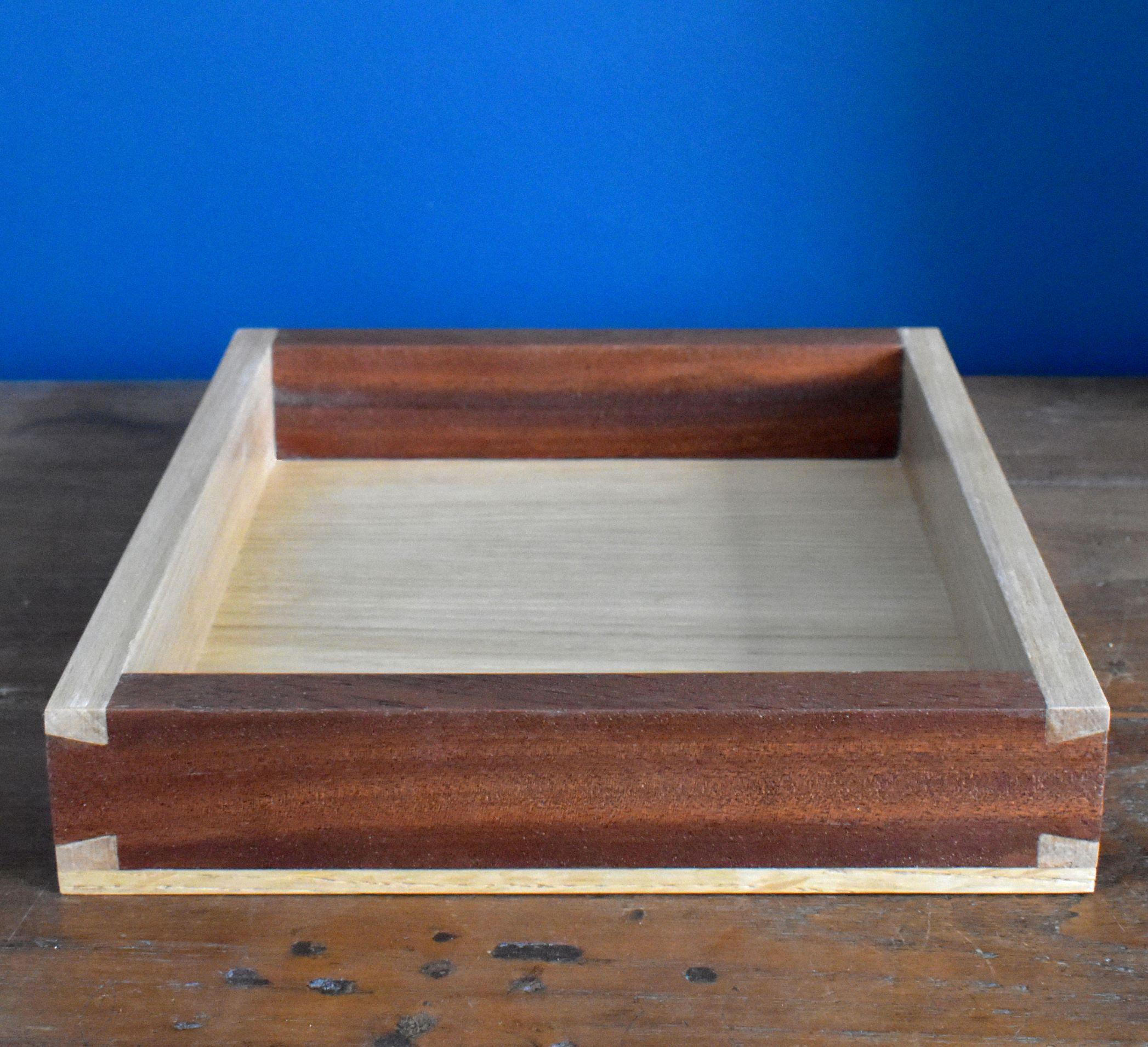Sapele and ash tray