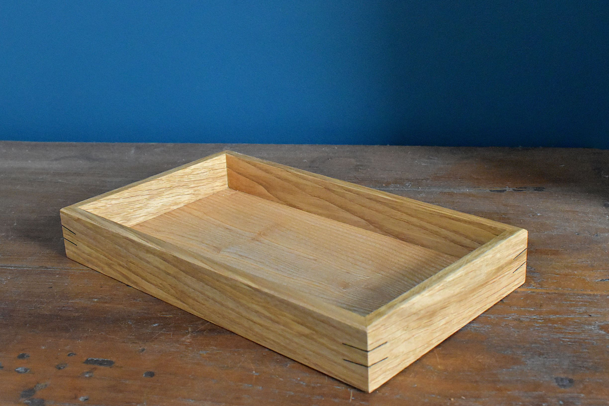 Oak and ash tray/organiser